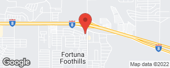 Map of 11242 S Foothills Blvd in Yuma