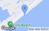 Map of Folly Beach, SC