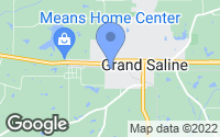 Map of Grand Saline, TX