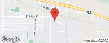 Map of 2589 E 24th St in Yuma