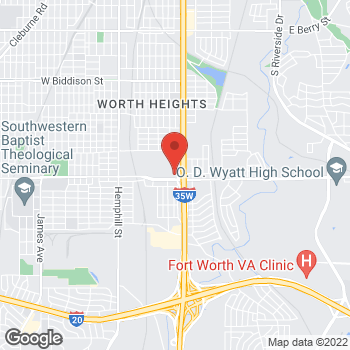 Map of Sprint at 4200 S Freeway, Fort Worth, TX 76115