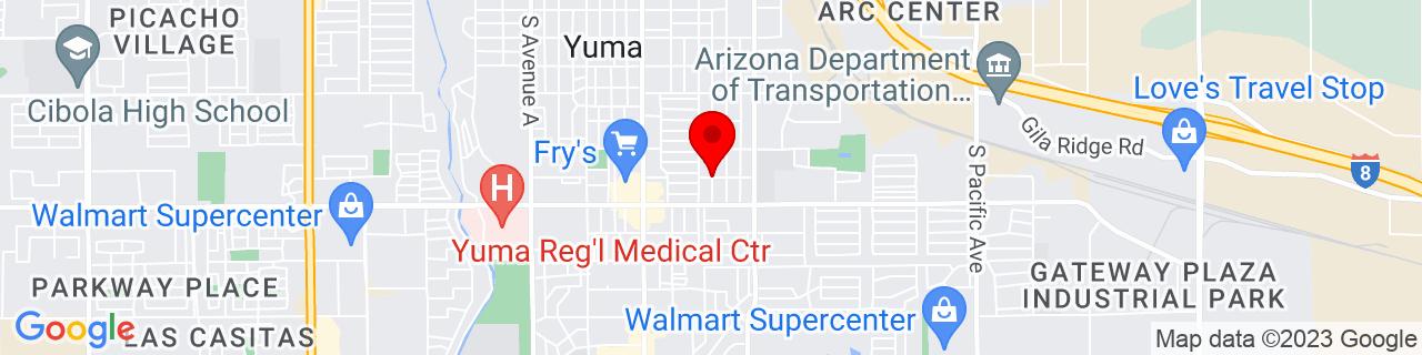 Google Map of 32.6857929, -114.6192475