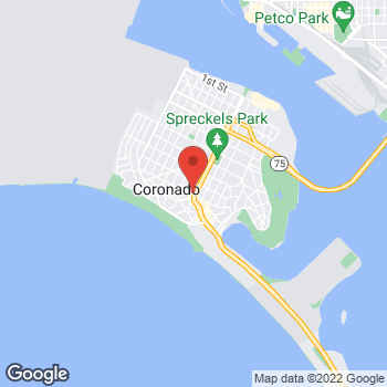 Map of Panera Bread at 980 Orange Avenue, Coronado, CA 92118