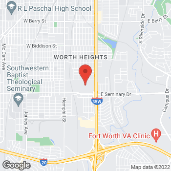 Map of Citi Trends at 4200 S Freeway Dr, Fort Worth, TX 76115
