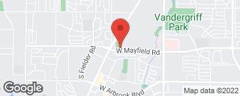 Map of 1121 W Mayfield Rd in Arlington