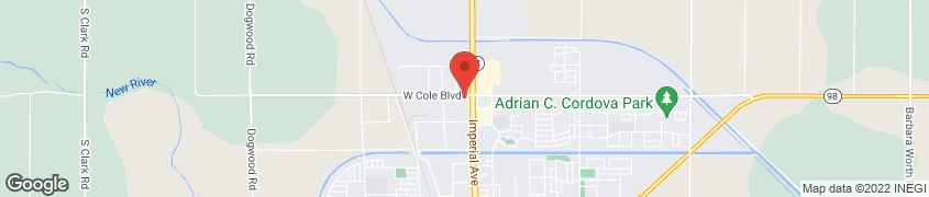 Map of 110 W Cole Rd in Calexico