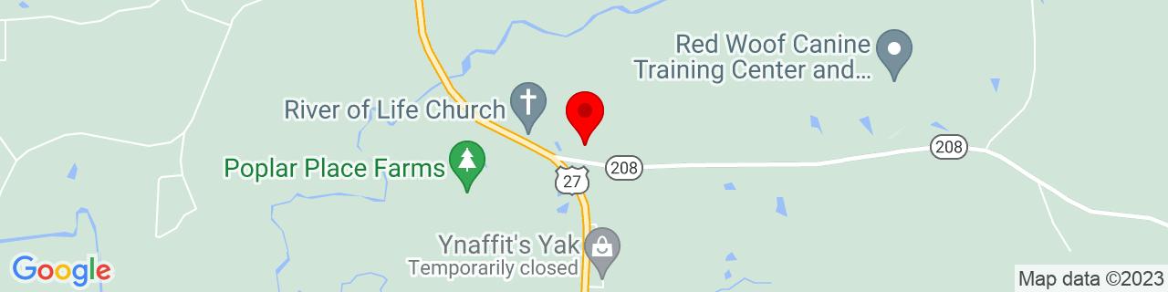 Google Map of 32.7032697, -84.8567932