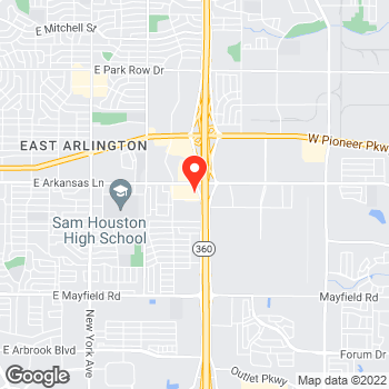 Map of Pizza To-Go in Arlington, TX – Pizza Takeout at 2596 E Arkansas Ln, Arlington, TX 76014