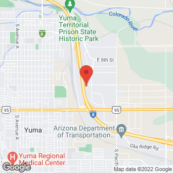 Map of Bed Bath & Beyond at 1212 South Castle Dome Avenue, Yuma, AZ 85365