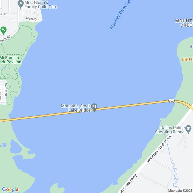Map of Mountain Creek Lake Bridge