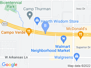 Map of Pet Resort In The Gardens Dog Boarding options in Arlington | Boarding