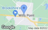 Map of Wills Point, TX