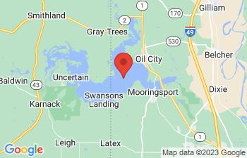 Map of Caddo Lake