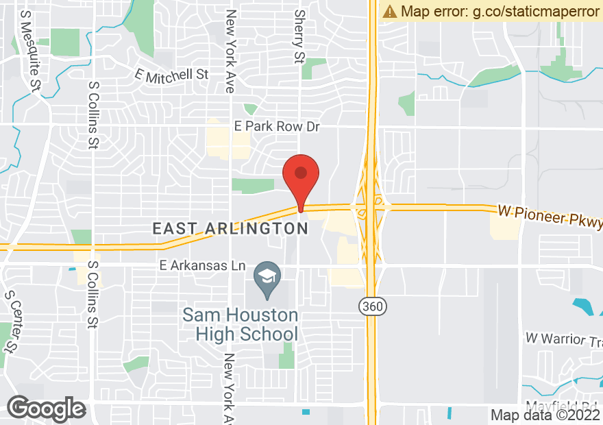 Google Map of 2200 E PIONEER PKWY