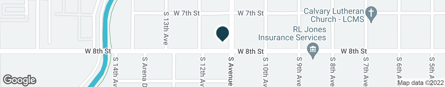 Google Map of1150 W 8TH ST