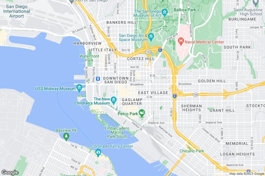 San Diego Car Dealership Map