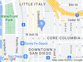 Map of Walk N Roll Doggie Dog Boarding options in San Diego | Boarding