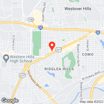 Map of Pizza in Fort Worth, TX – Cicis Pizza at 6550 Camp Bowie Blvd, Fort Worth, TX 76116