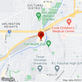 Map of Staples® Print & Marketing Services at 1660 S University Drive, Ft. Worth, TX 76107