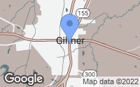 Map of Gilmer, TX