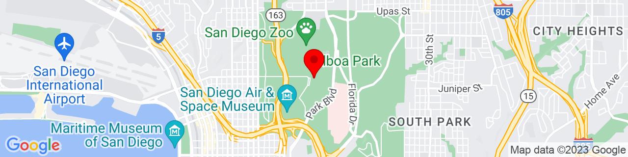 Google Map of 32.7311007, -117.1495772