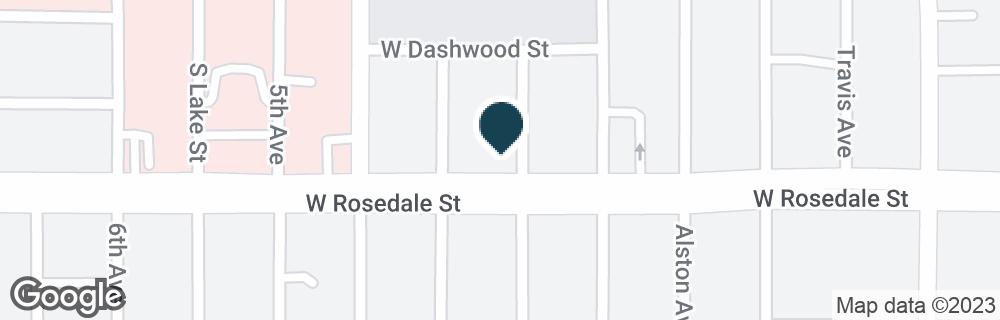 Google Map of1050 W ROSEDALE ST