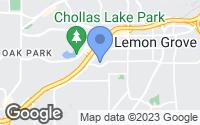 Map of Lemon Grove, CA