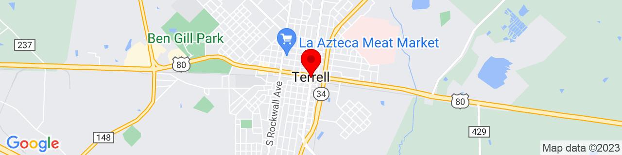 Google Map of 32.73583333333333, -96.27527777777777