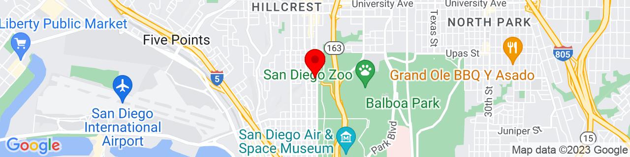 Google Map of 32.7373509, -117.159721