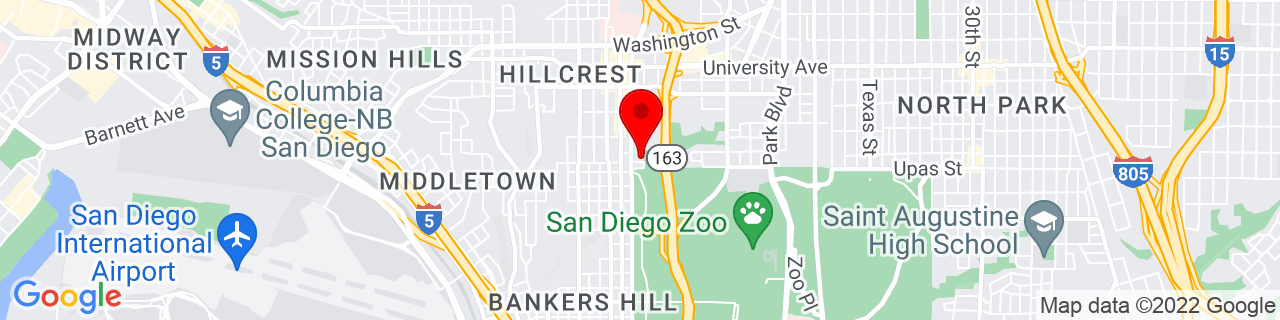 Google Map of 32.7417035, -117.1586497