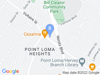 Map of Cabrillo Pet Hospital Dog Boarding options in San Diego | Boarding