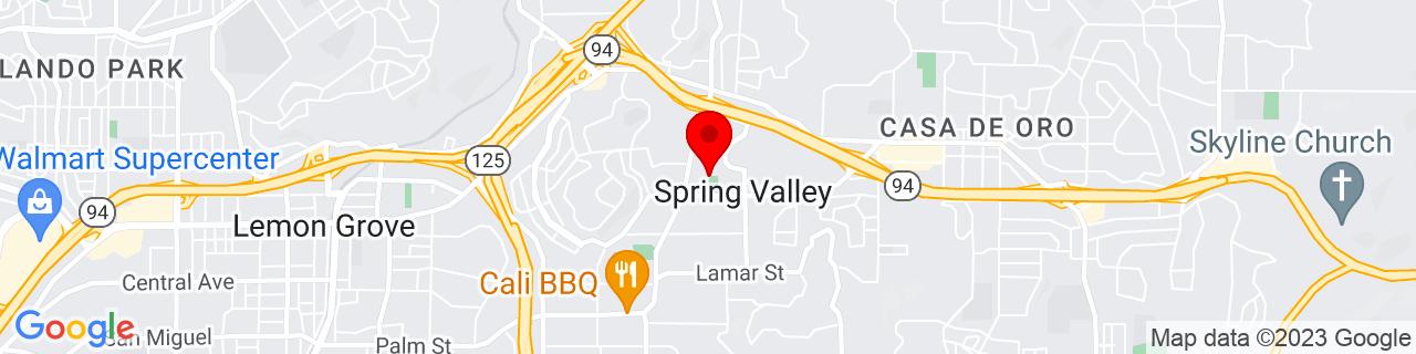 Google Map of 32.7457109, -117.0015848