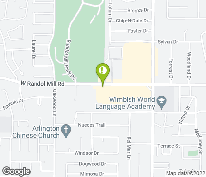 Map of 1730 W Randol Mill Rd in Arlington