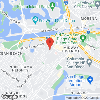 Map of Vons at 3645 Midway Dr, San Diego, CA 92110