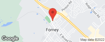 Map of 406 Pinson Rd in Forney