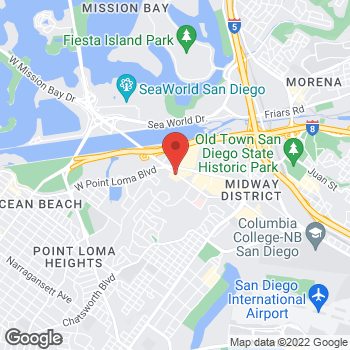 Map of Arby's at 3777 Midway Dr, San Diego, CA 92110