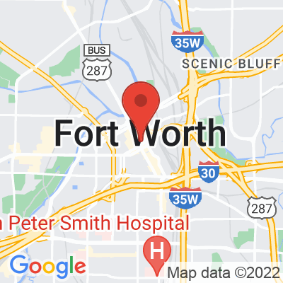 Map showing Pax & Beneficia Coffee (Fort Worth)