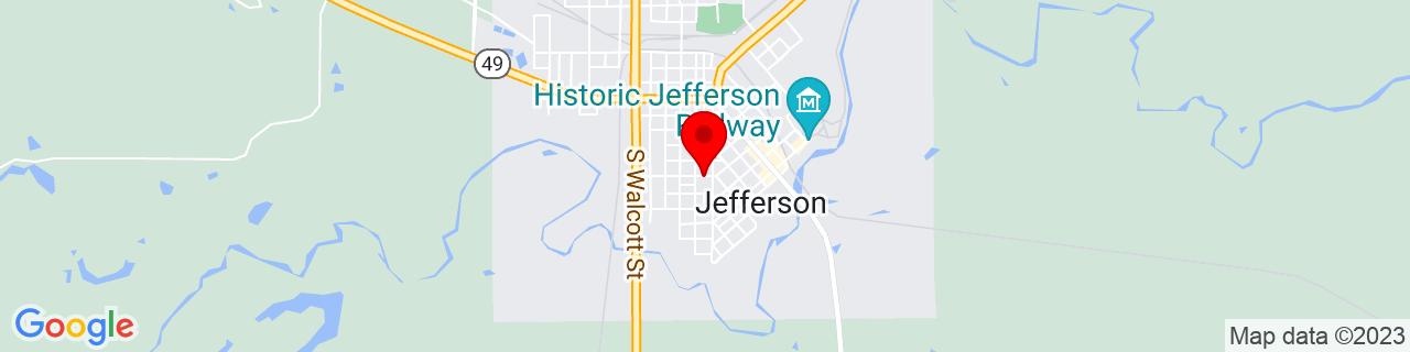 Google Map of 32.756344, -94.3496096