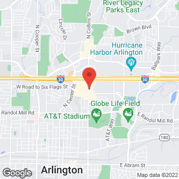 Map of Panera Bread at 1409 N Collins St, Arlington, TX 76011