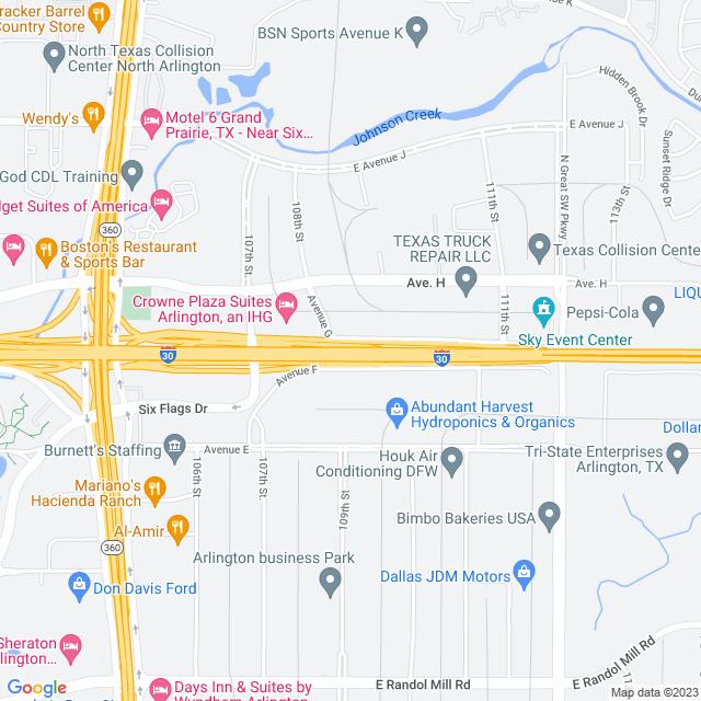 Map of Tom Landry (I 30) Expressway