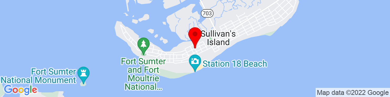 Google Map of 32.7606842, -79.84334059999999