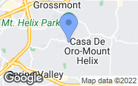 Map of La Mesa, CA