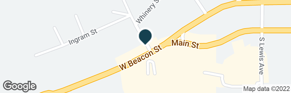 Google Map of1005 W BEACON ST