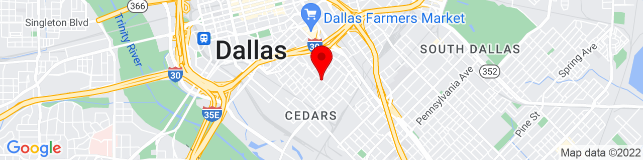 Google Map of 32.7701965, -96.7874882