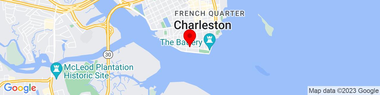Google Map of 32.7708802, -79.9345261