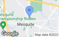 Map of Mesquite, TX