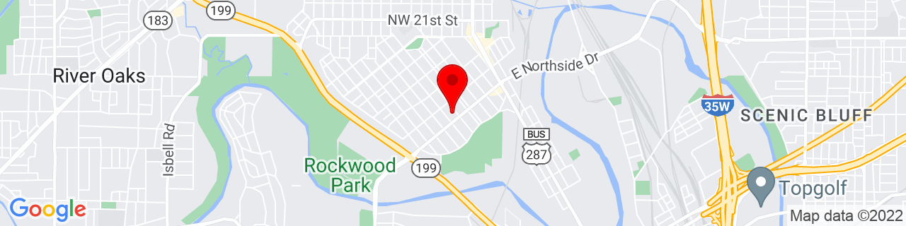 Google Map of 32.7732044, -97.35165579999999