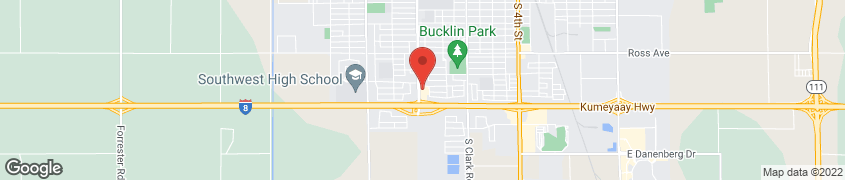 Map of 1445 Ocotillo Drive in El Centro