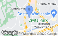 Map of San Diego, CA