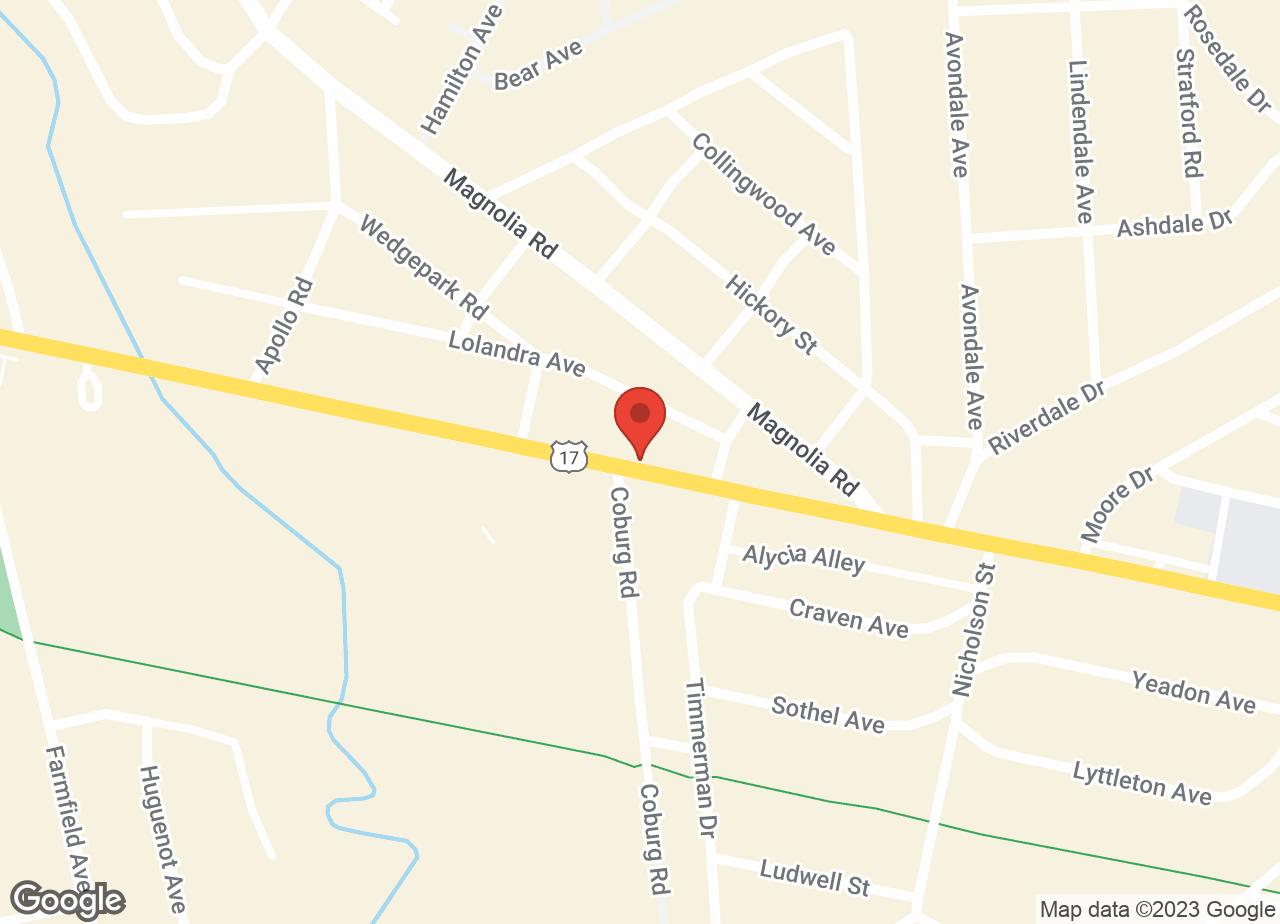 Google Map of VCA Charles Towne Animal Hospital